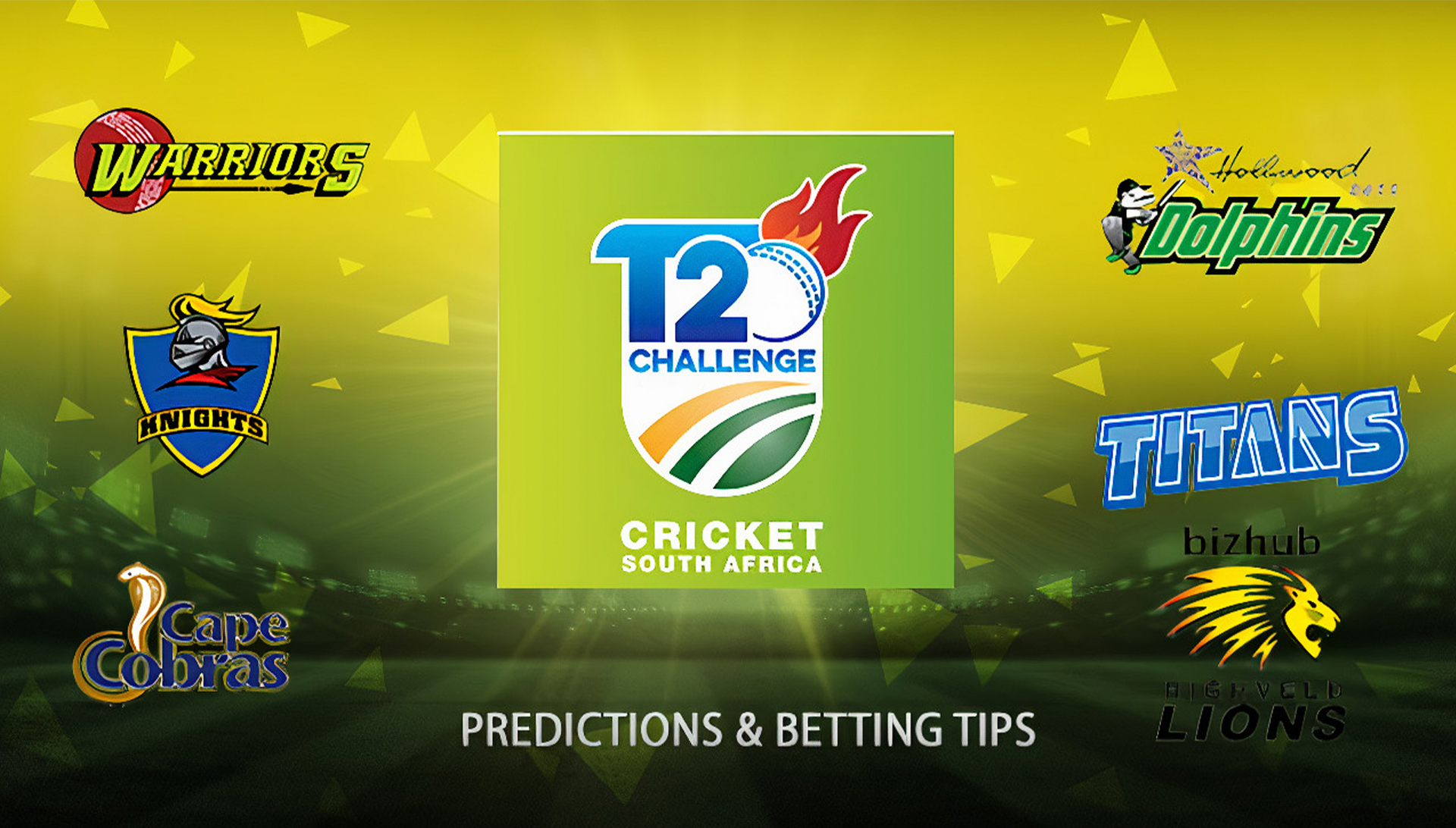 You can place bets on Cricket South Africa T20 Challenge (CSA) after registering on the site