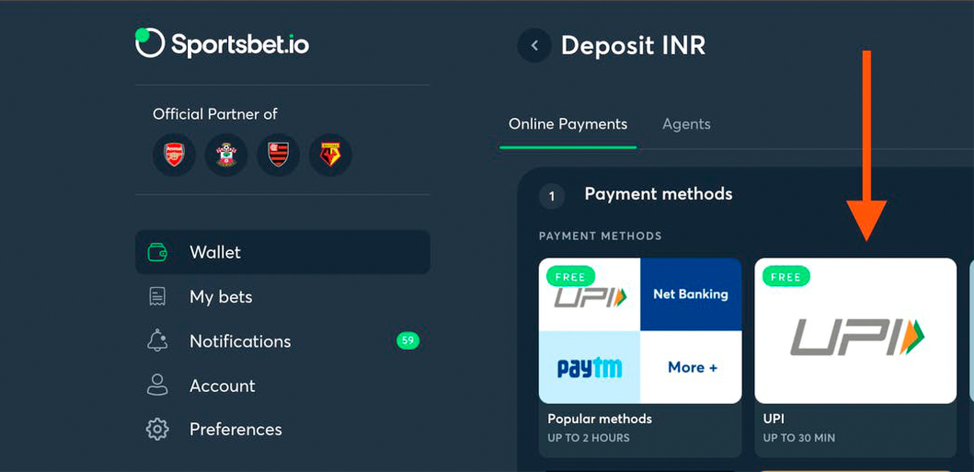 Now you can place your first cricket bet.