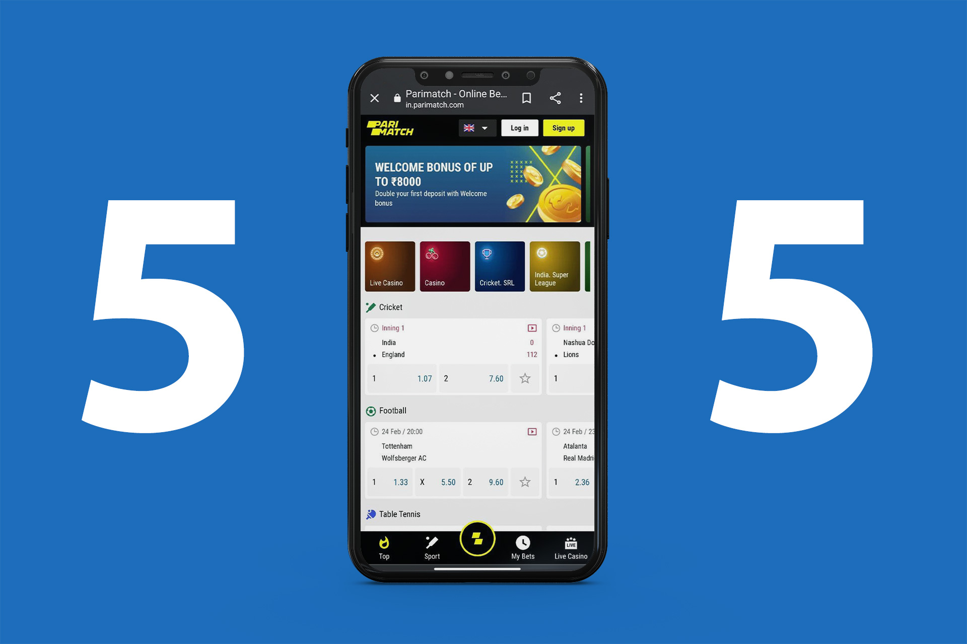 There are a lot of profitable odds on the IPL events at mobile apps.