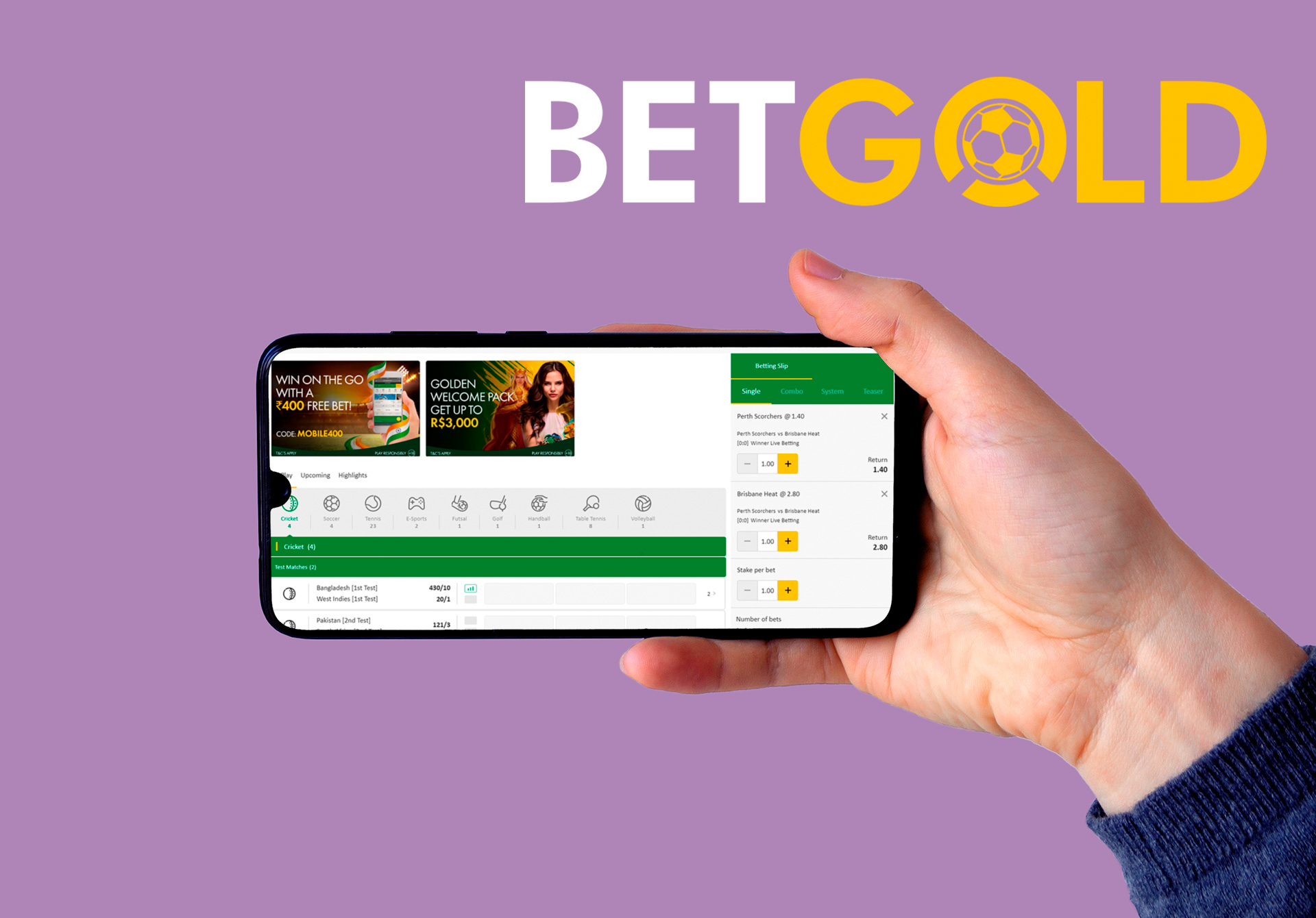 You'll fine profitable IPL odds at the Betgold mobile app.