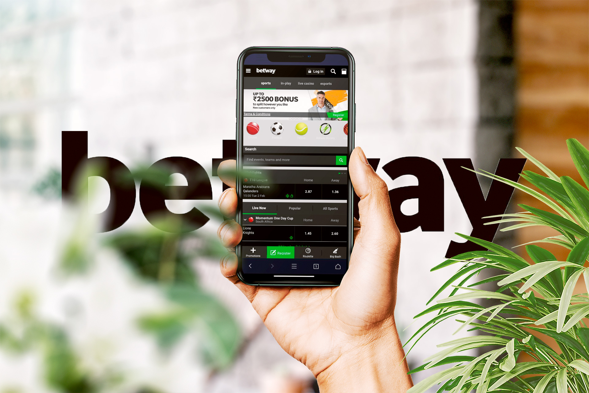 Install the Betway app on your Android and place bets on IPL.
