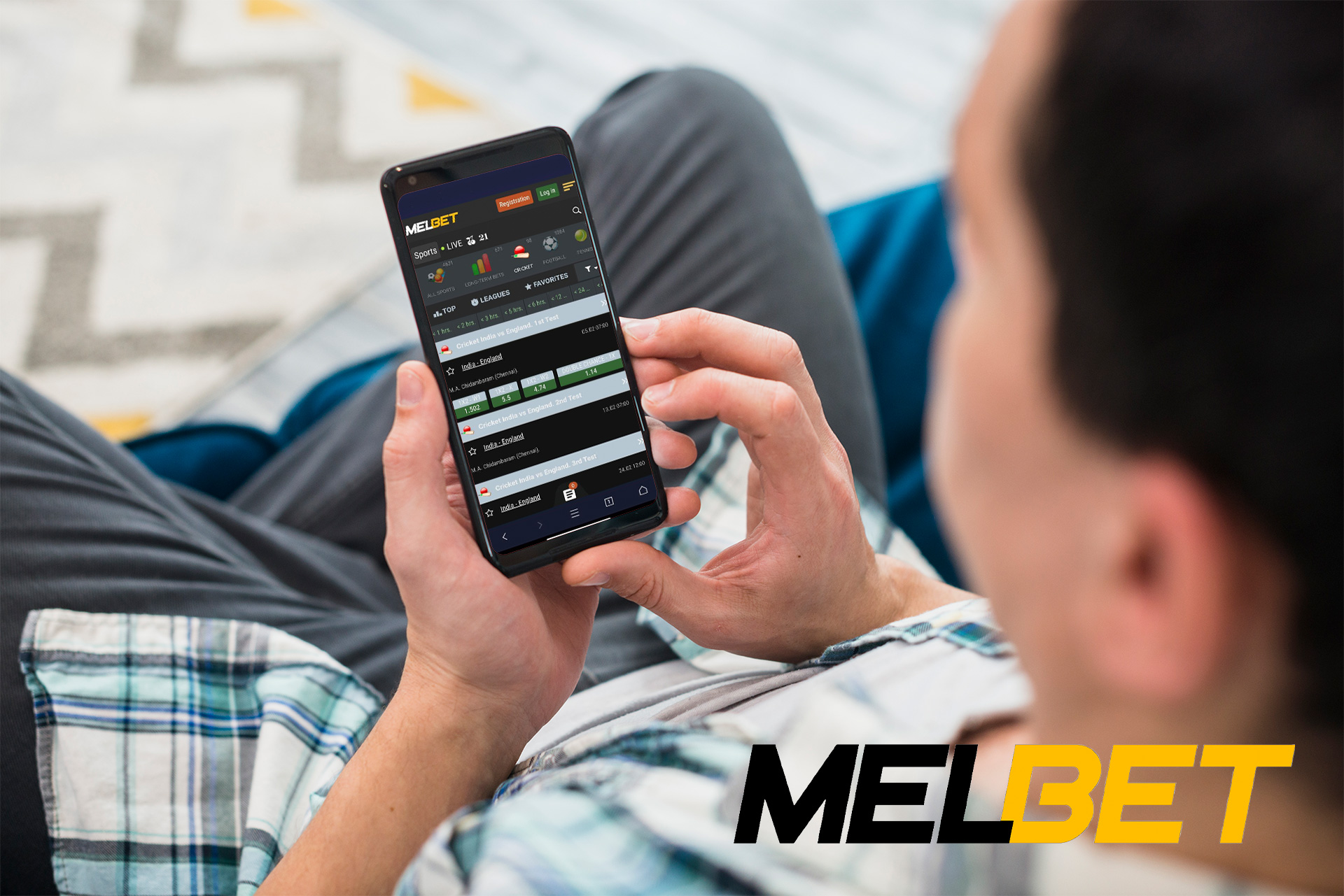 100% bonus waits you in the Melbet mobile app to start betting oc cricket.