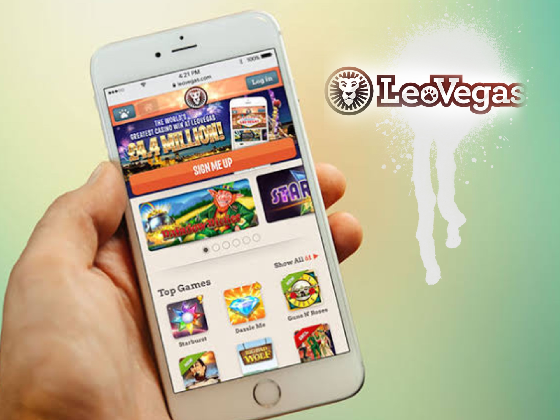 Betting is much more convenient with the LeoVegas mobile app.