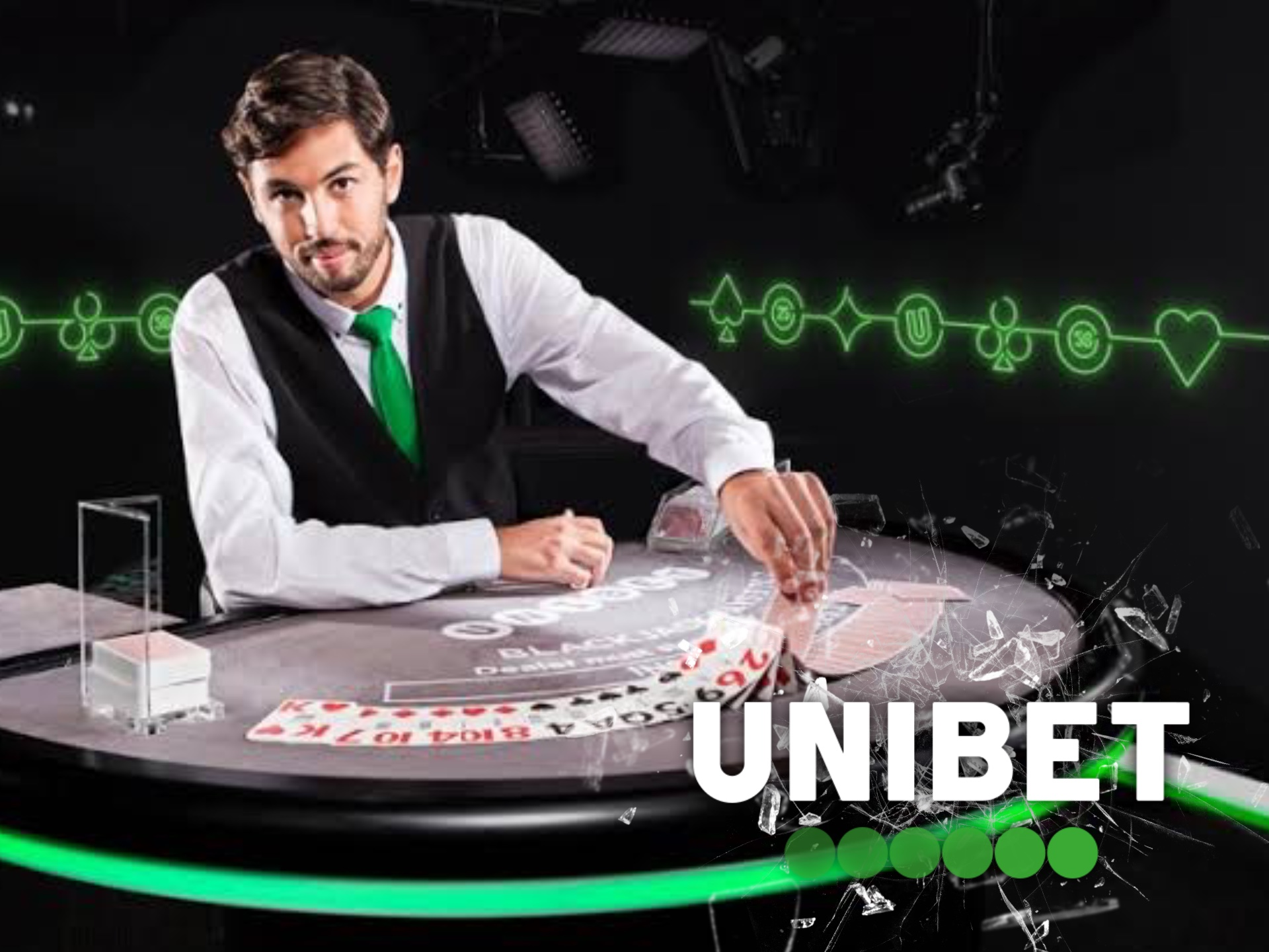 Try to win a real dealer at Unibet live casino.