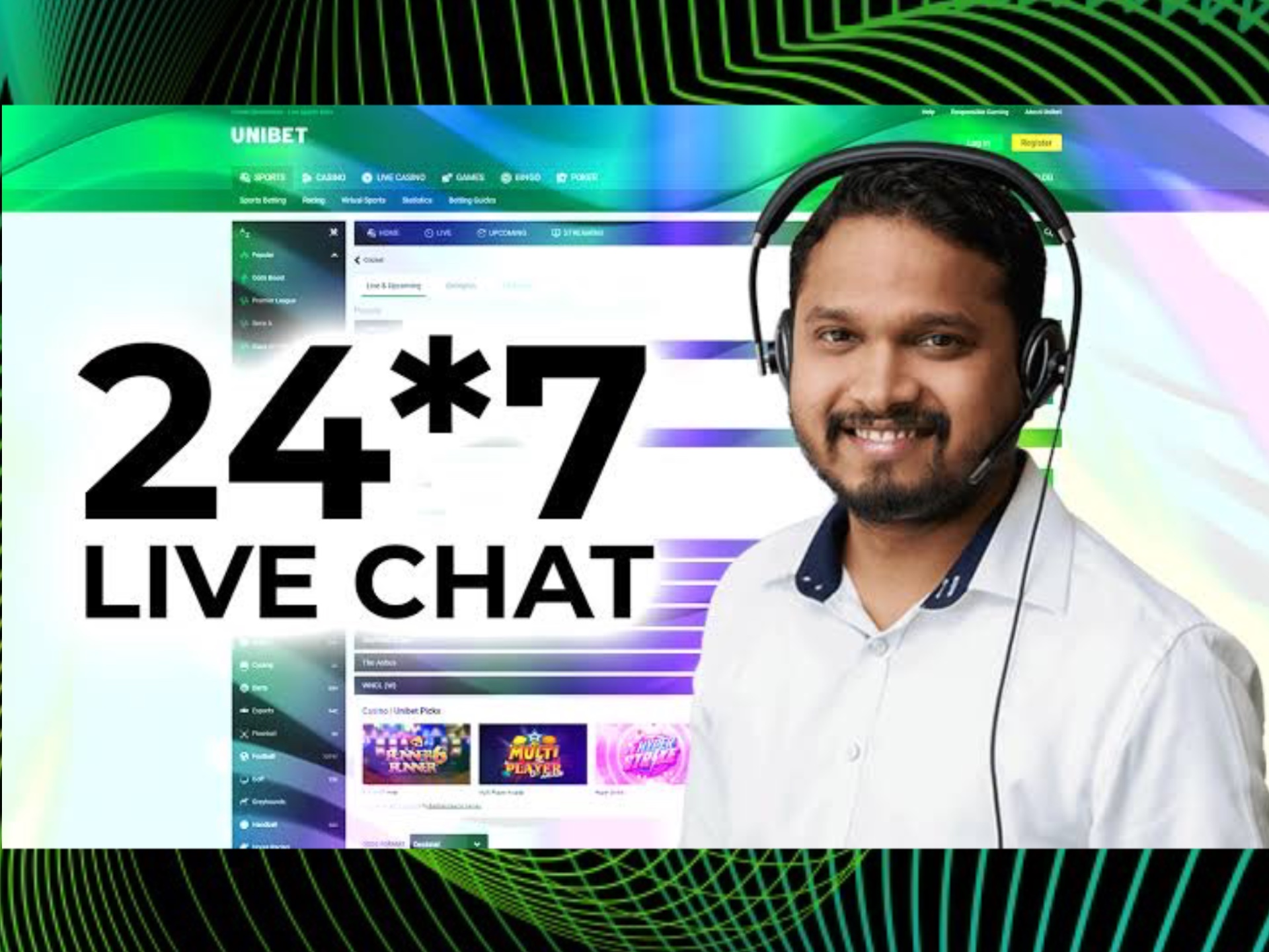 You can contact Unibet support team 24/7.