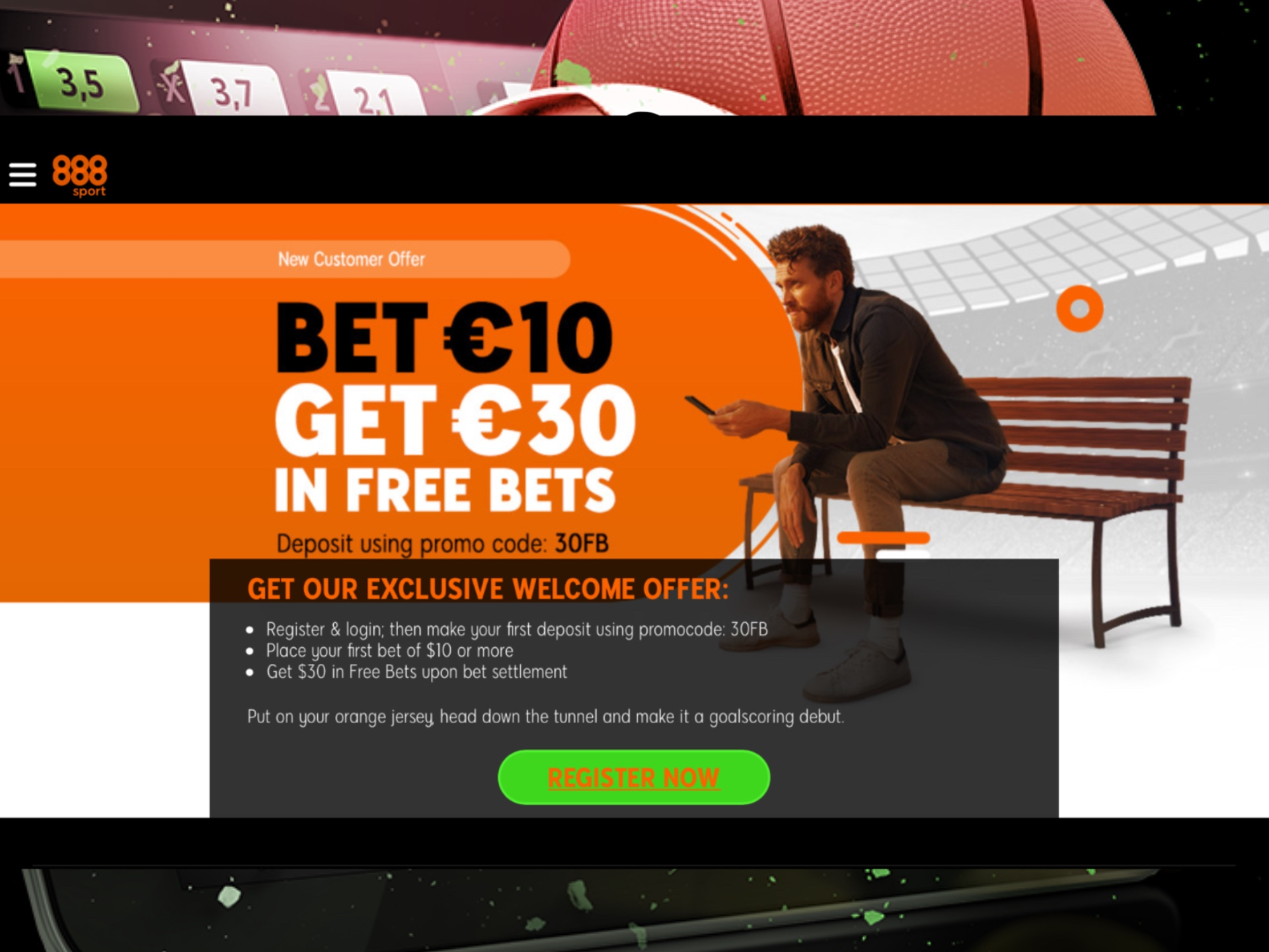 Get your selcome bonus after depositing on 888sport.