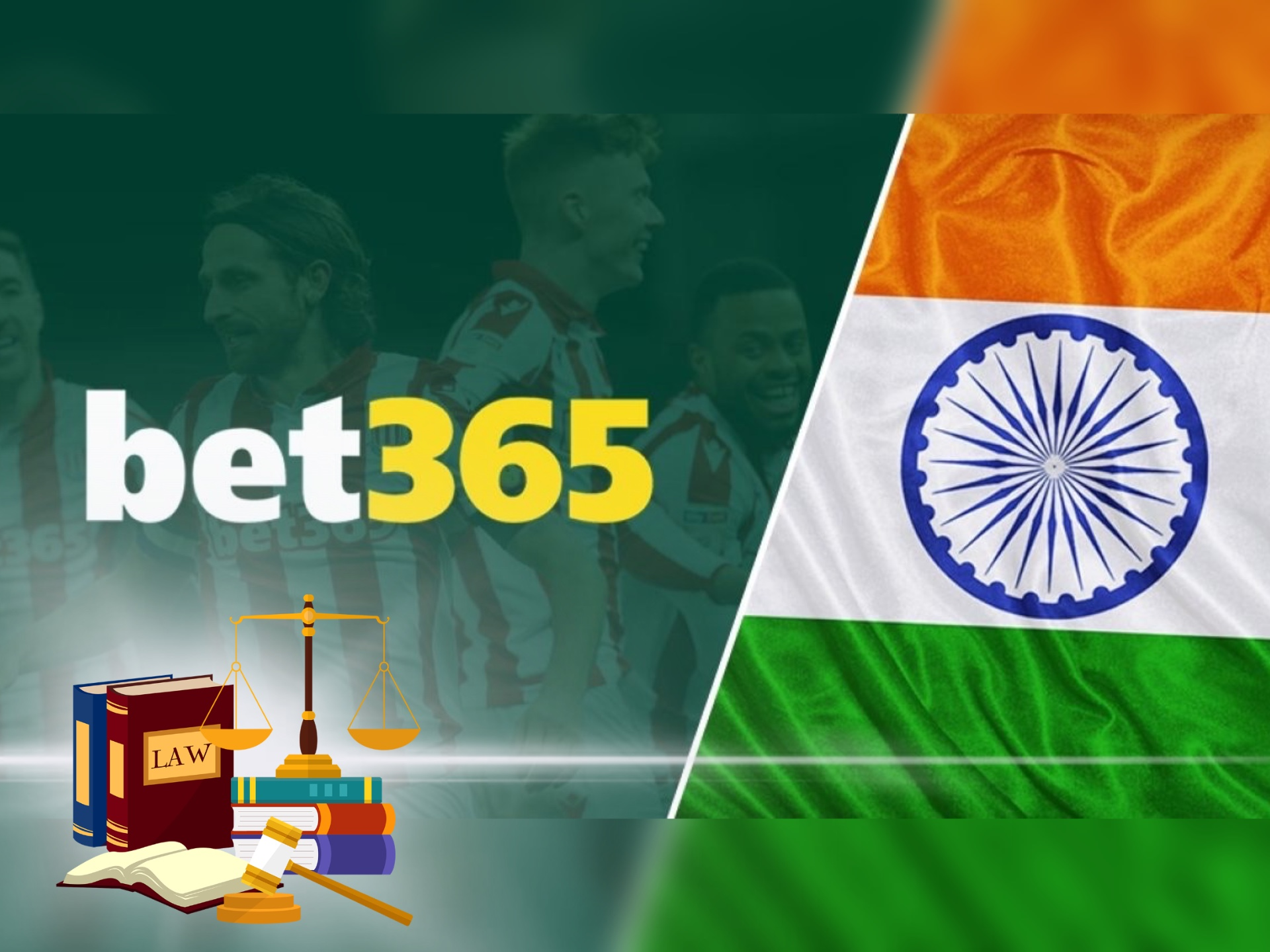 Betting at bet365 from India is absoluteley legal.