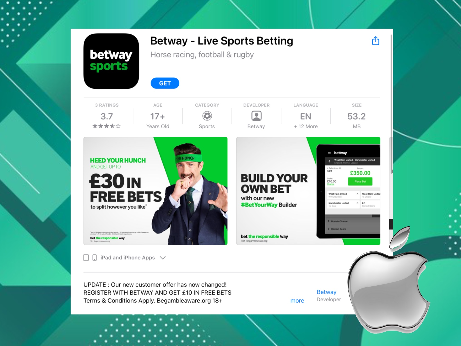 After installing Betway app you will be able to plave bets whenever you want.