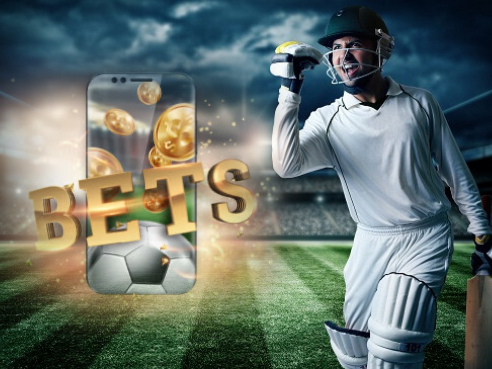 Choose the best bets for you and place them on a cricket betting site.