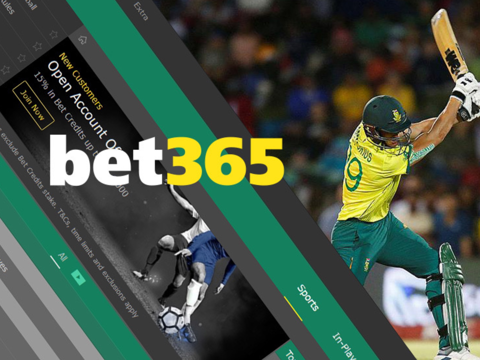 Sign up for bet365 and start betting on cricket.