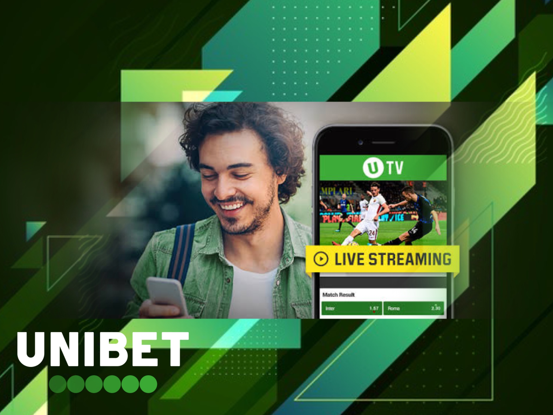 Expperience the atmosphere of live betting with Unibet TV.