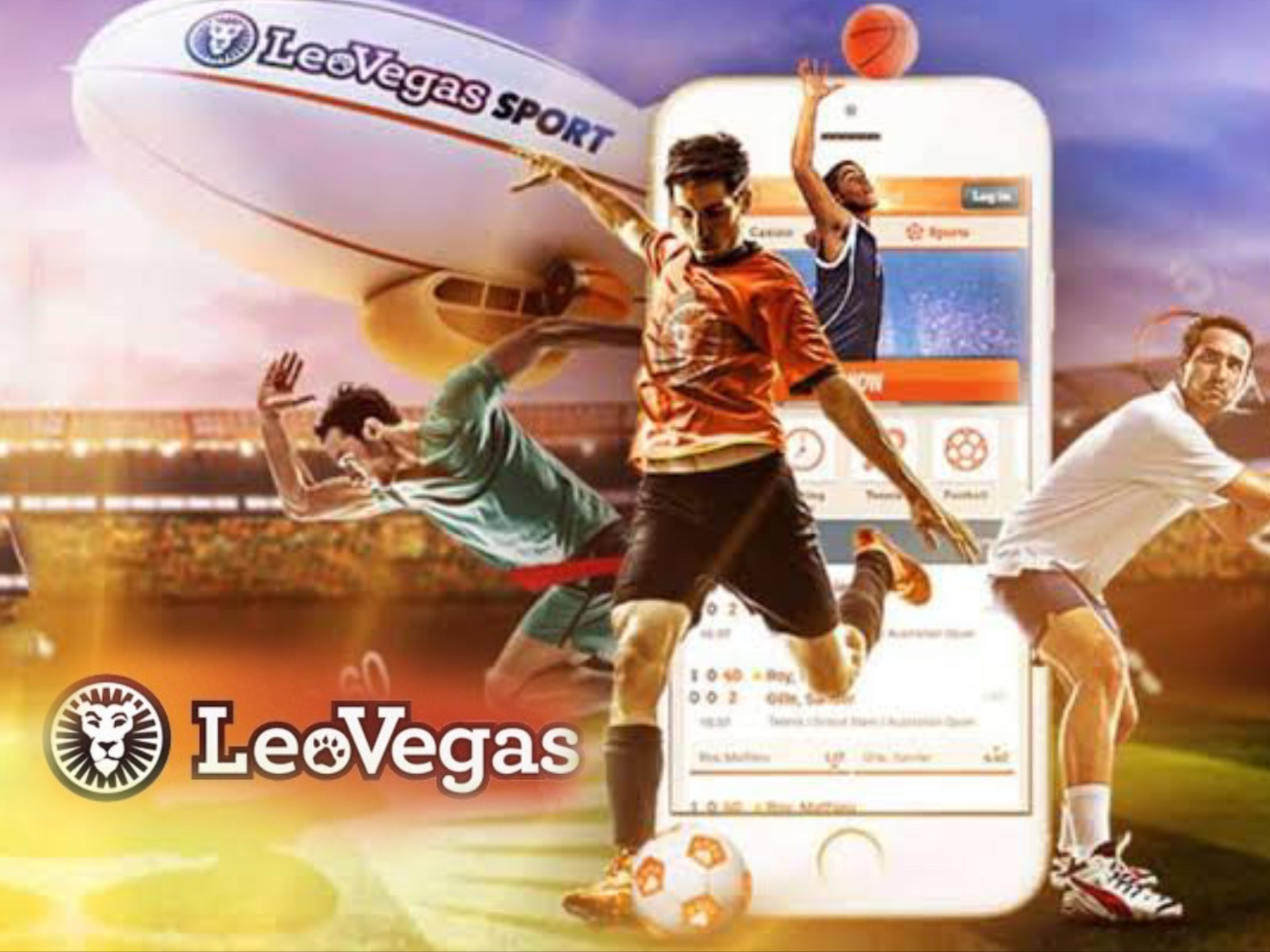 You will find profitable odds on different sports at LeoVegas.