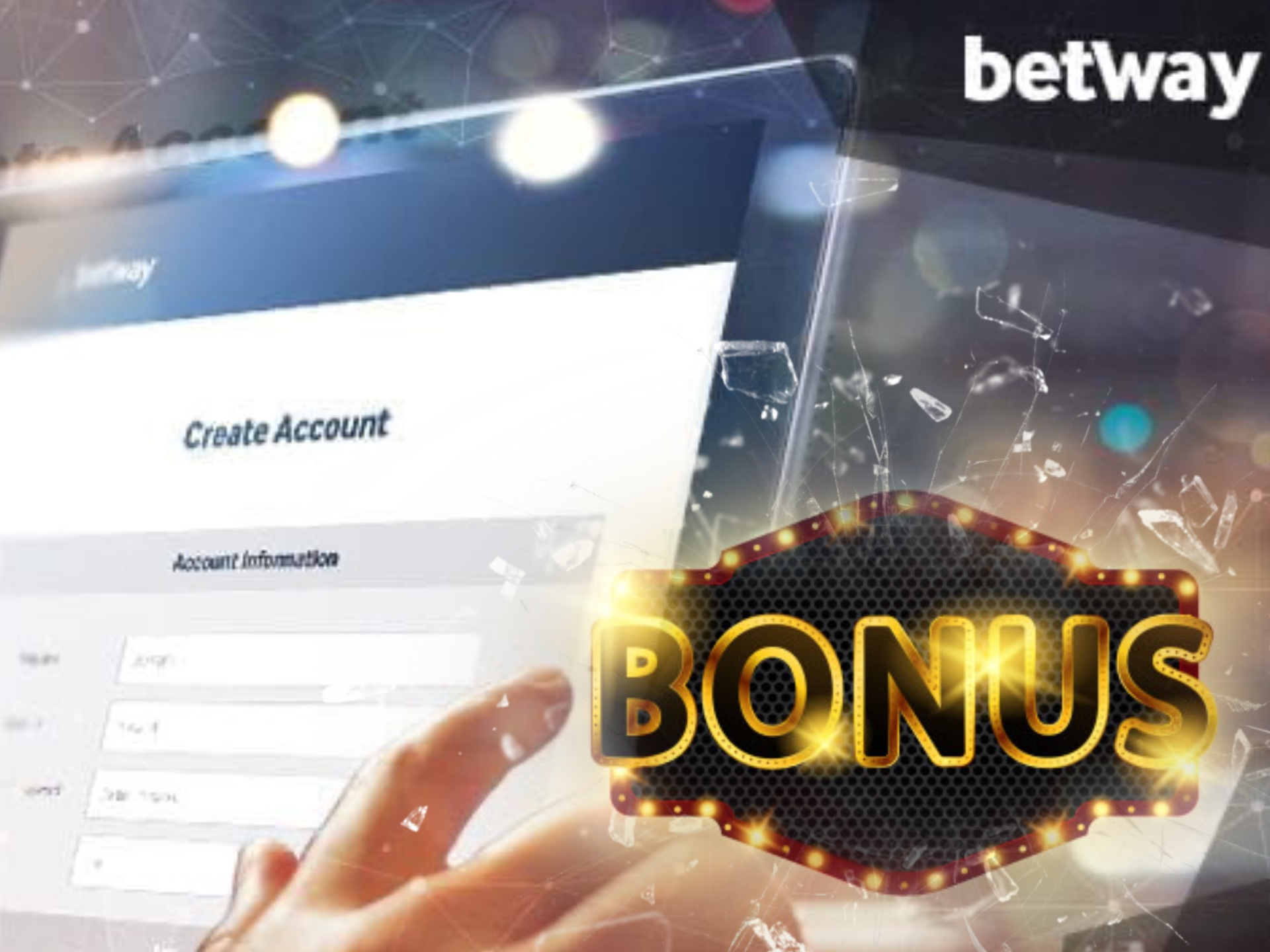 Register at Betway via the mobile app and get attractive bonuses.