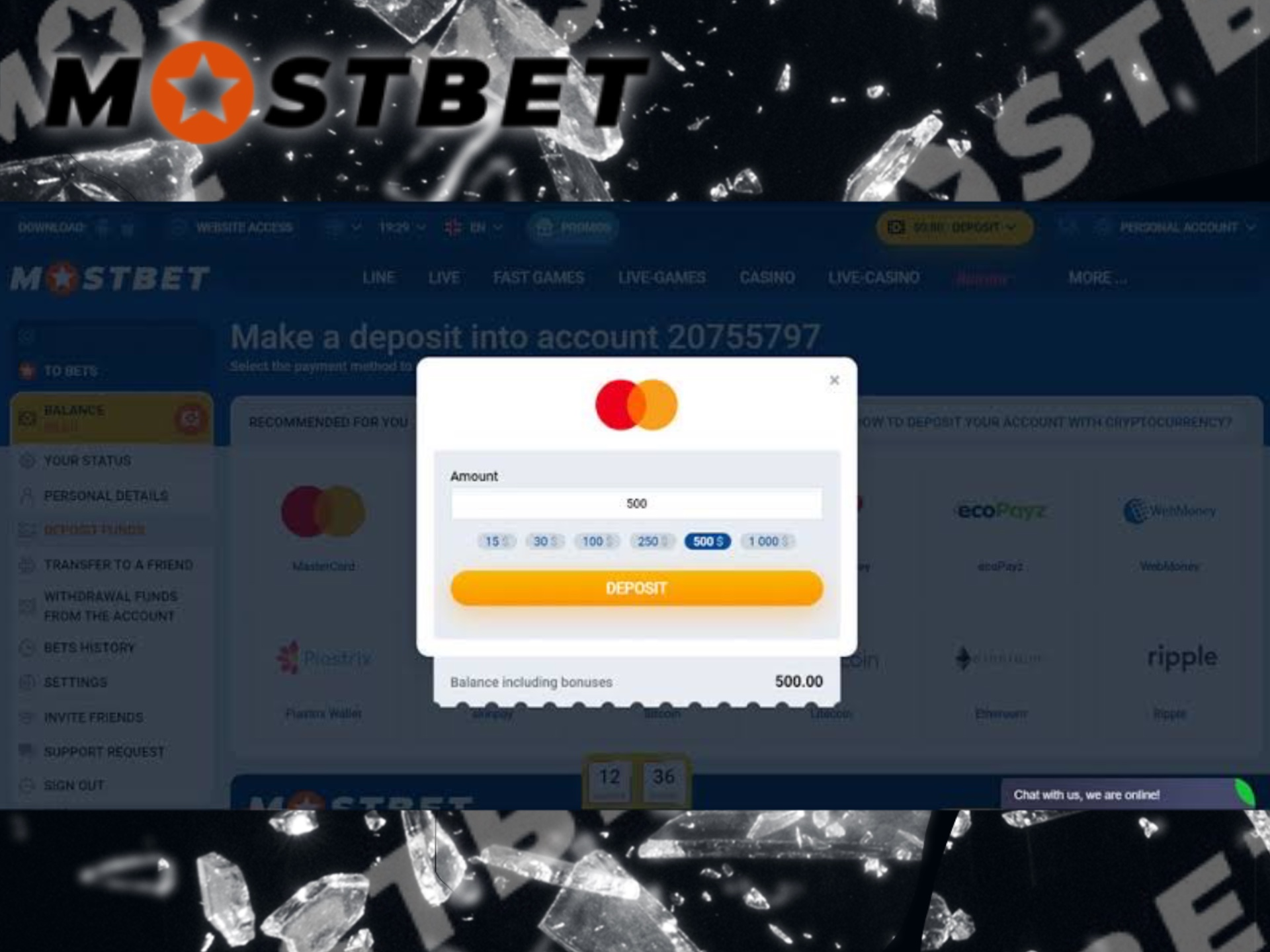 Mostbet makes almost immediate deposits via e-wallets.