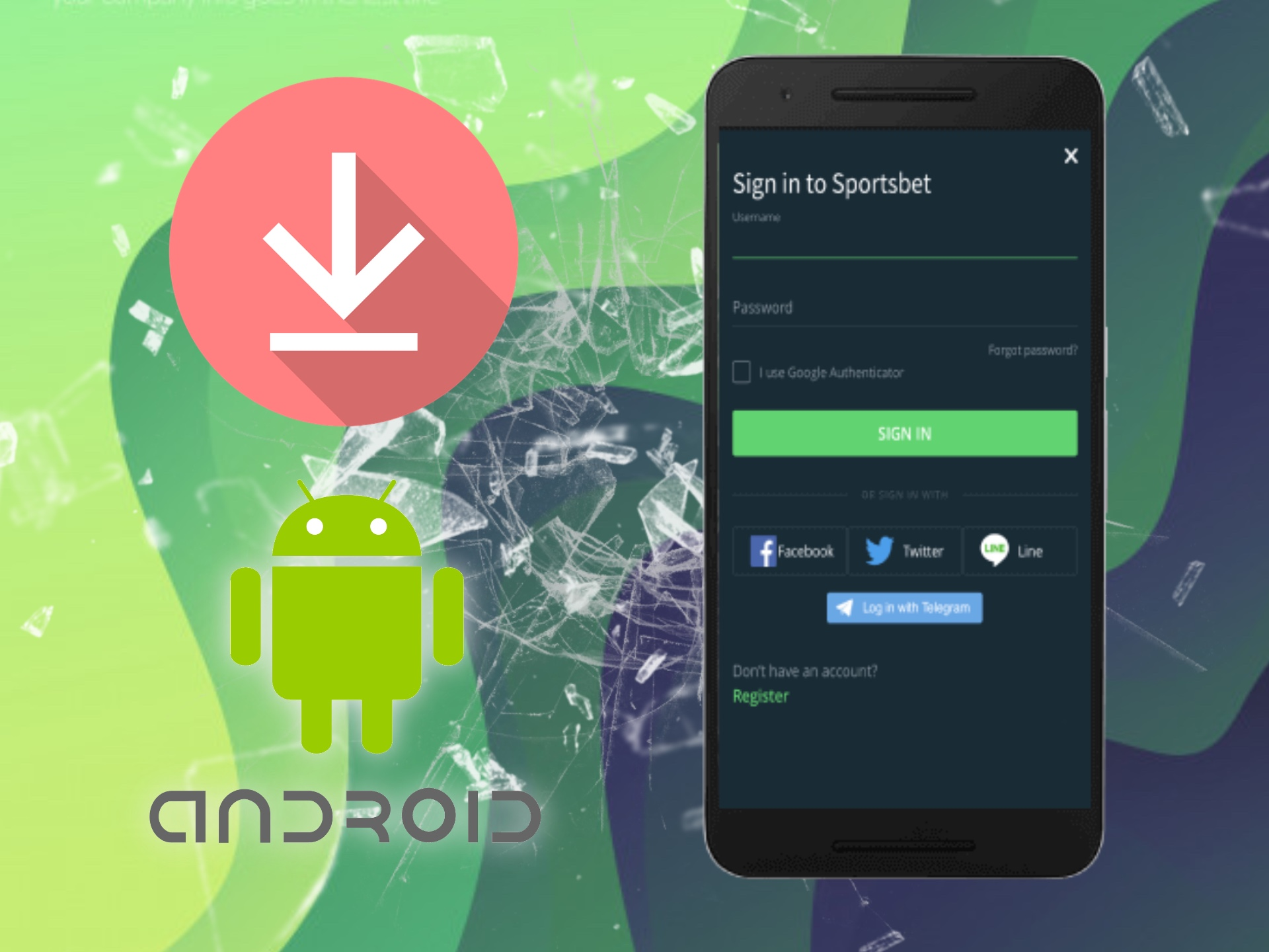 Install the Android app and install it to play at Sportsbet.io.