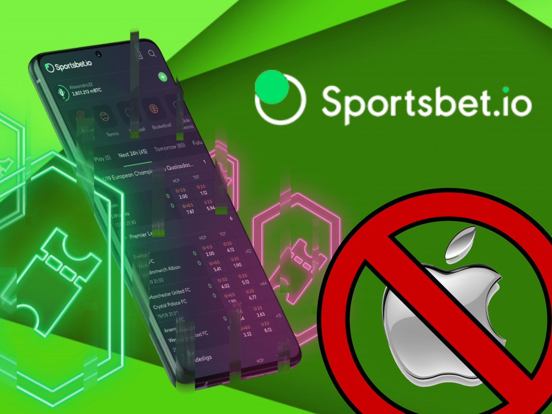 Sportbet.io app for iOS is now not available and you should use mobile version.