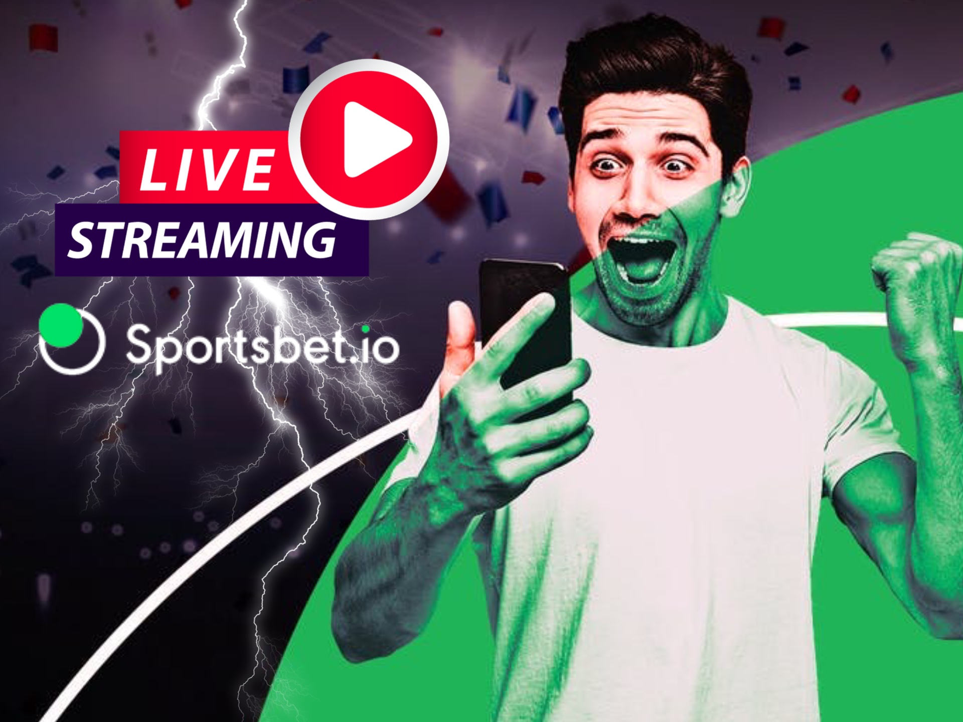 Live streaming helps to place immediate bets through a sport event.