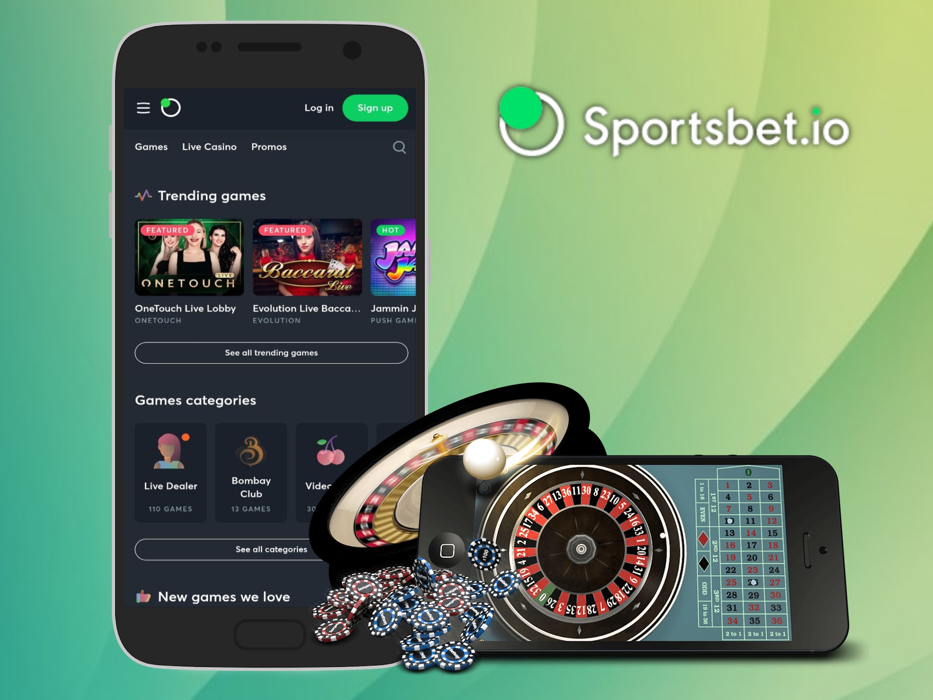 Sportsbet casino has a lot of slots and other games from well-known developers.