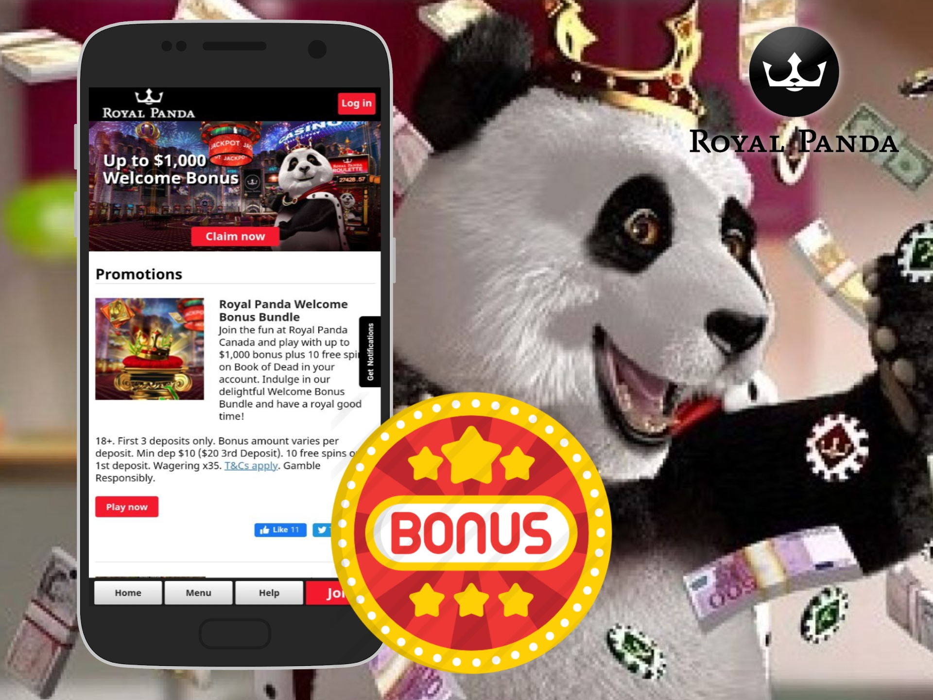 There are a lot of promos and bonuses for both new and regular players at Royal Panda.