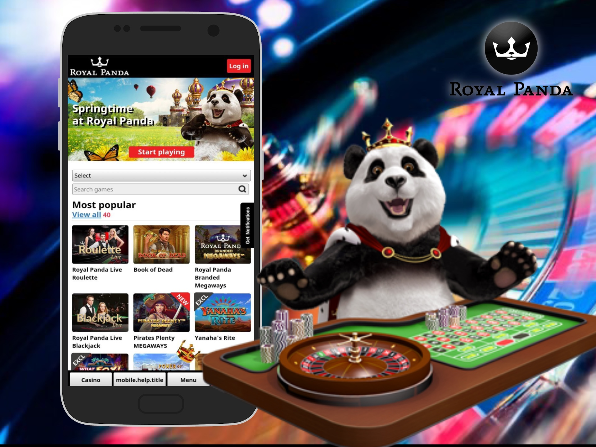 You can use a mobile version instead of Royal Panda app, if you do not want to download any software.