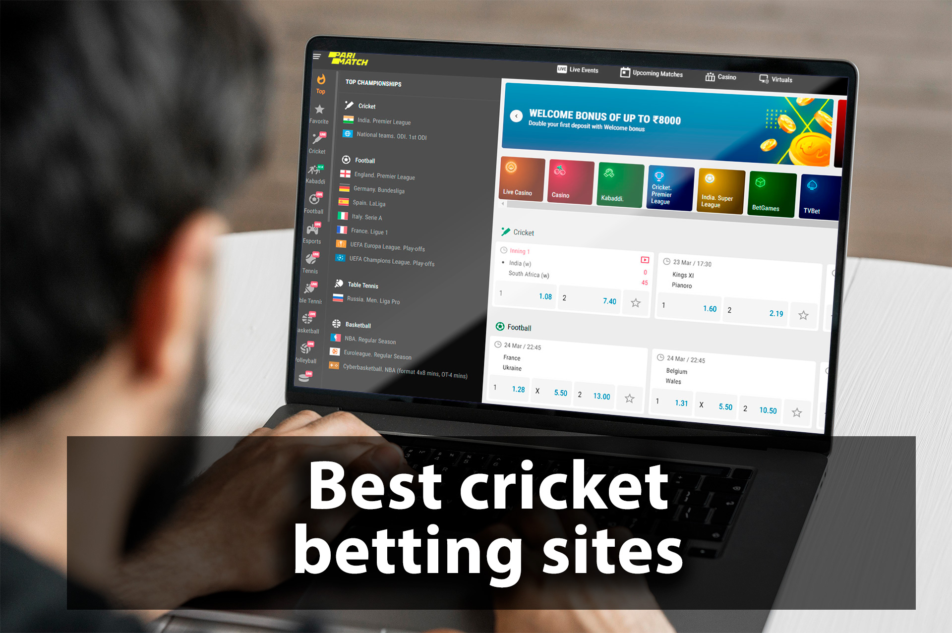 You can bet on cricket on sites from our ranking.
