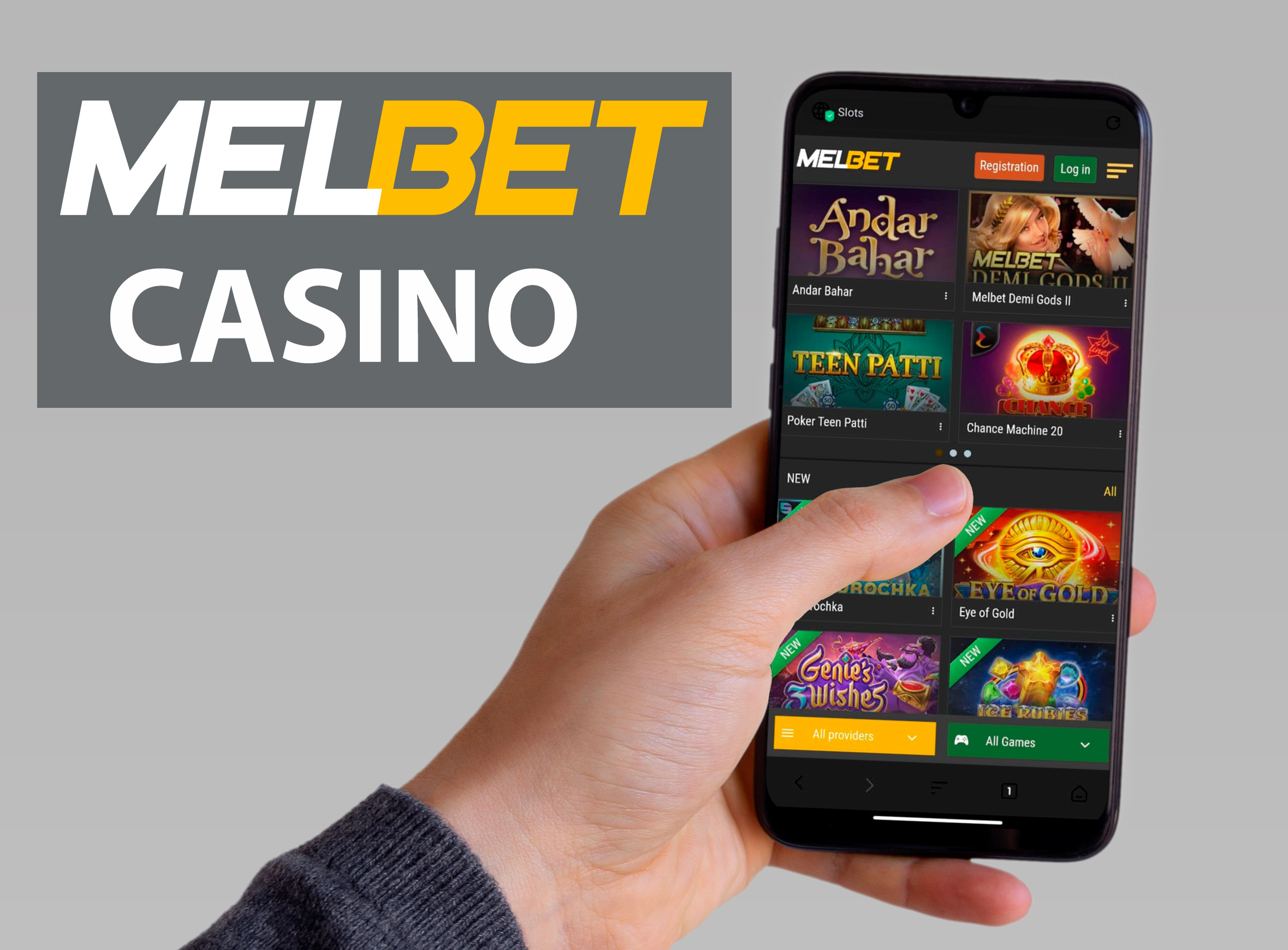 Find your favorite casino games and play them in Melbet casino.