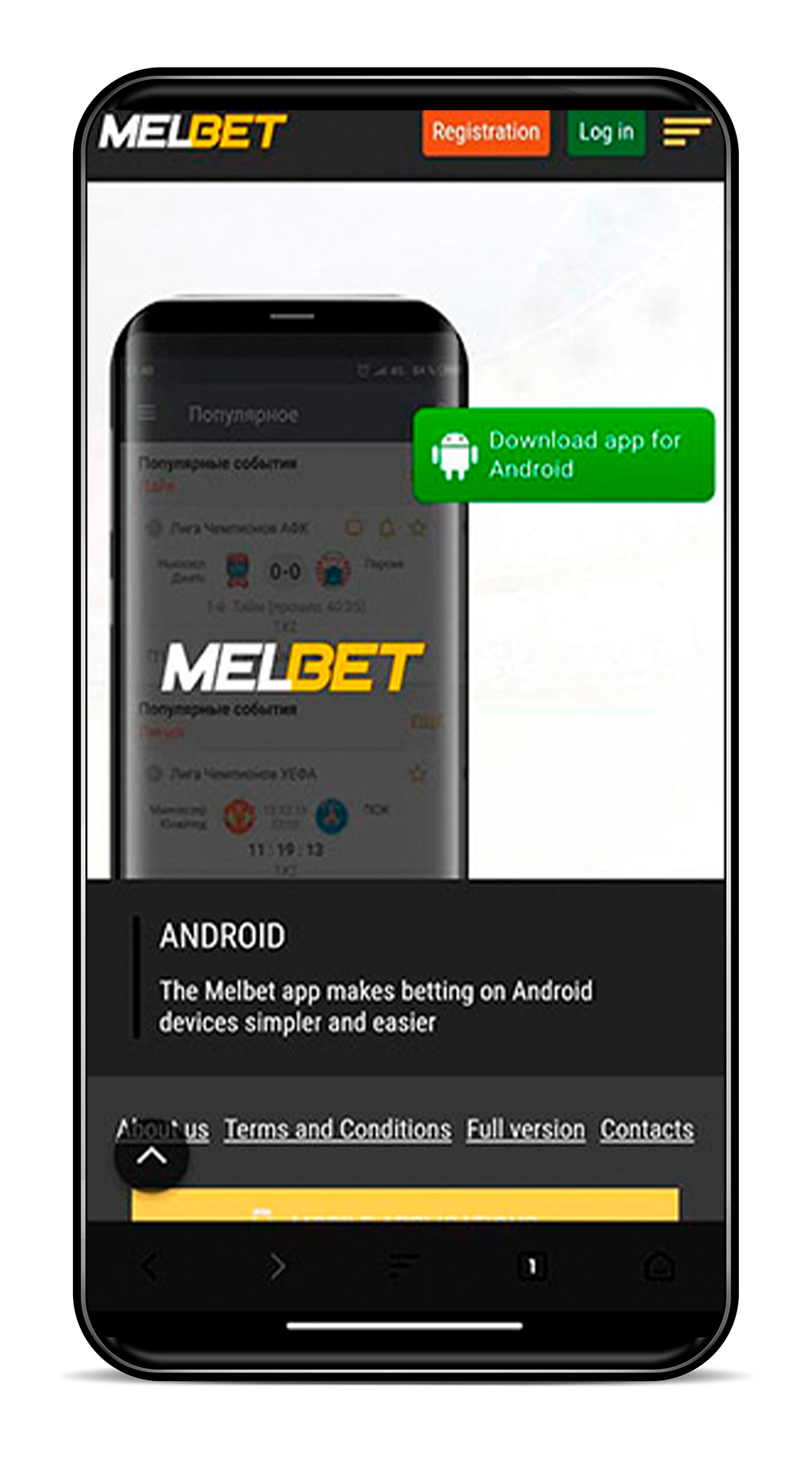 Afetr downloading you will be able to install the Melbet app.